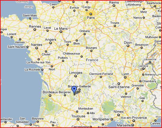 Location of Beynac, France
