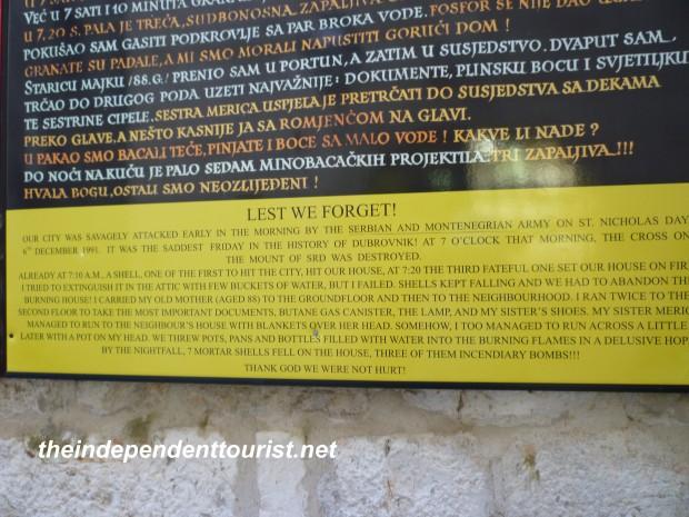 Dubrovnik War Croatia