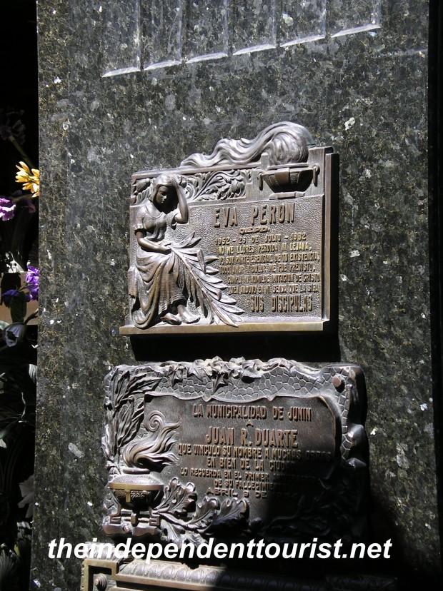 Eva Peron Grave Recoleta Cemetery Buenos Aires Argentina