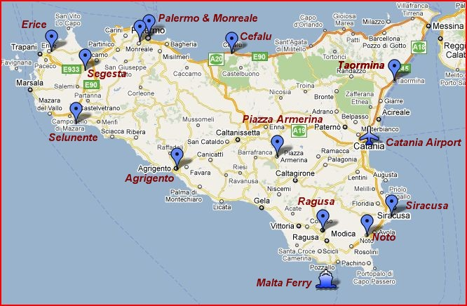 Sicily Map The Independent Tourist
