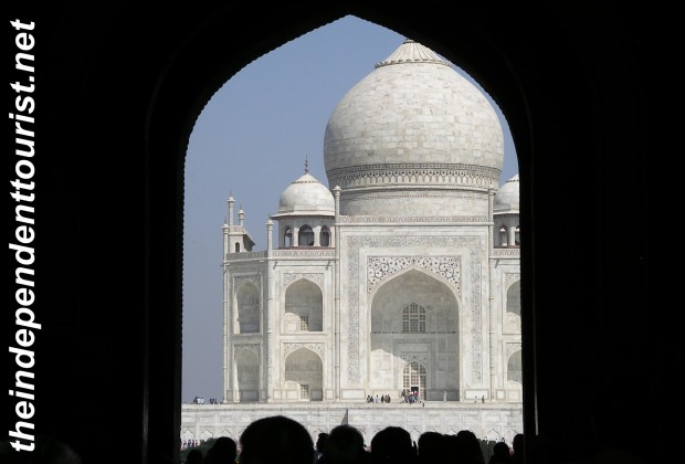 View of Taj Mahal.