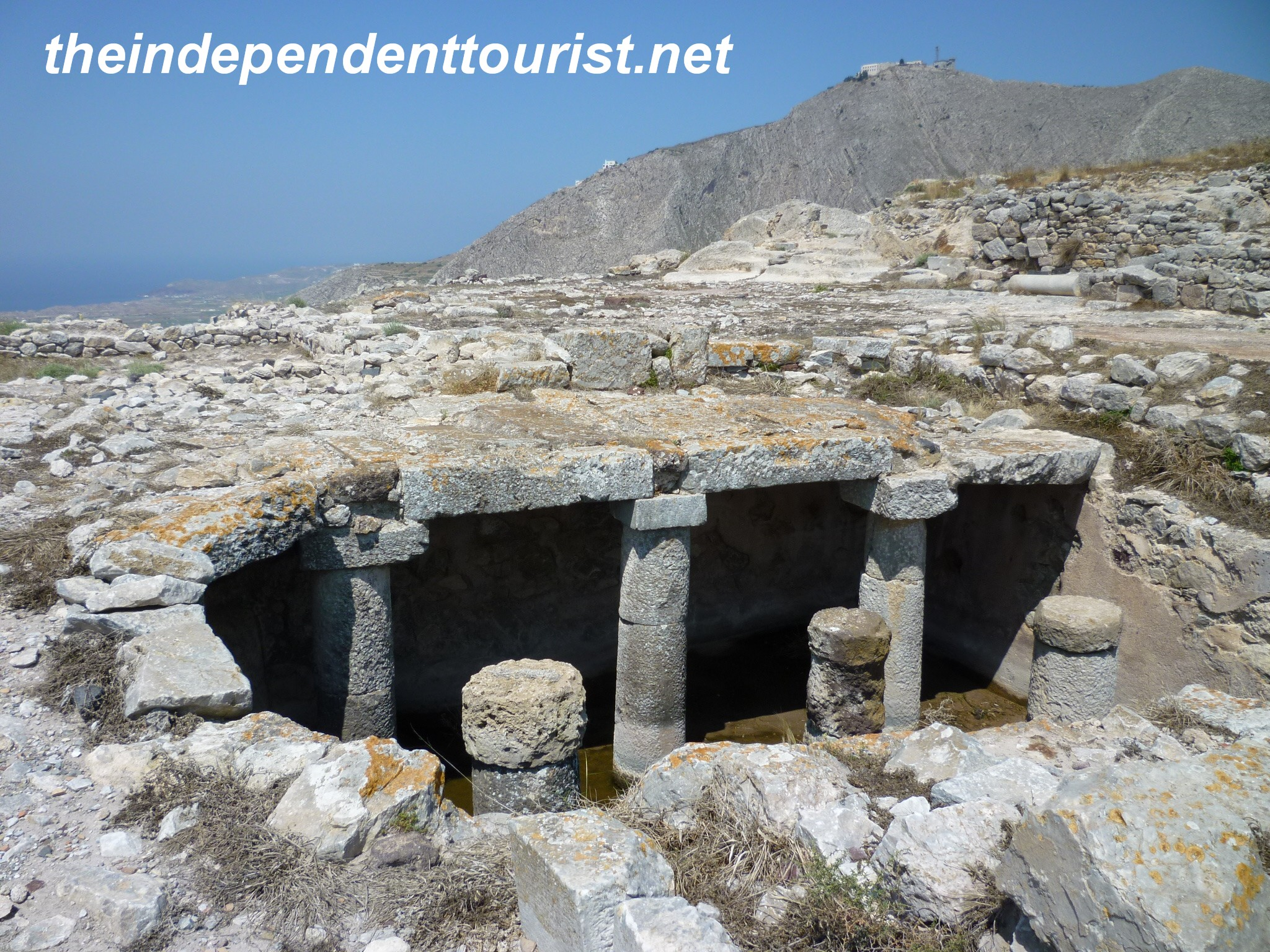 ancient thira santorini greece  13