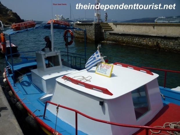 Boat to Nea Kameni Island_Santorini