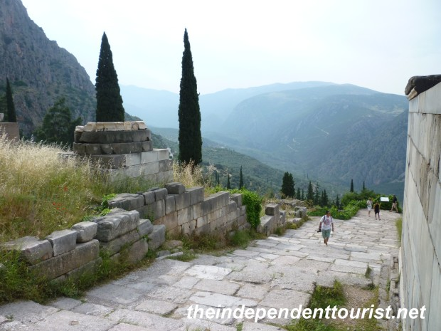 Sacred Way, Delphi, Greece