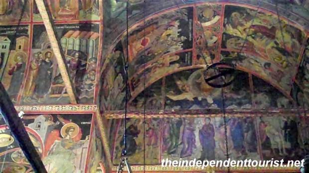 Great Meteron Monastery Interior, Meteora, Greece.