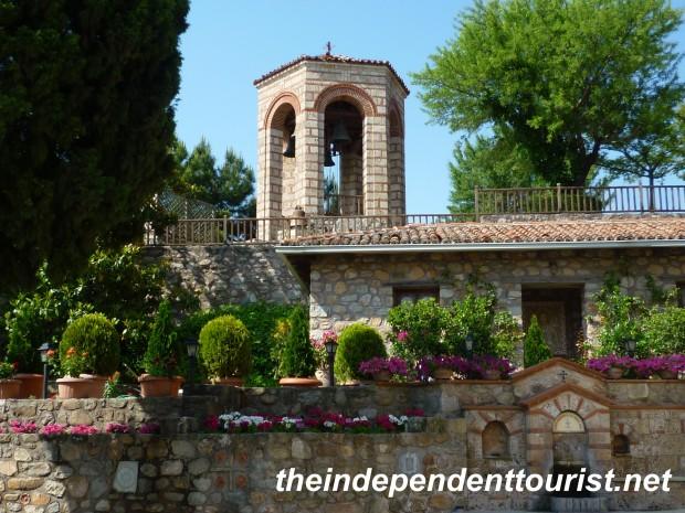 Great Meteron Monastery Courtyard, Meteora, Greece.