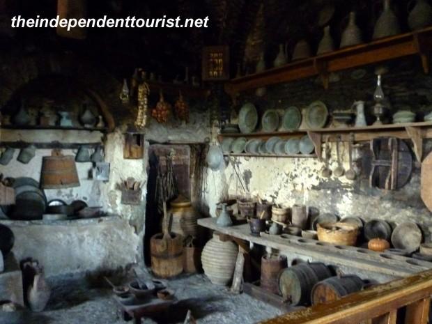 Kitchen, Great Meteron, Meteora, Greece.