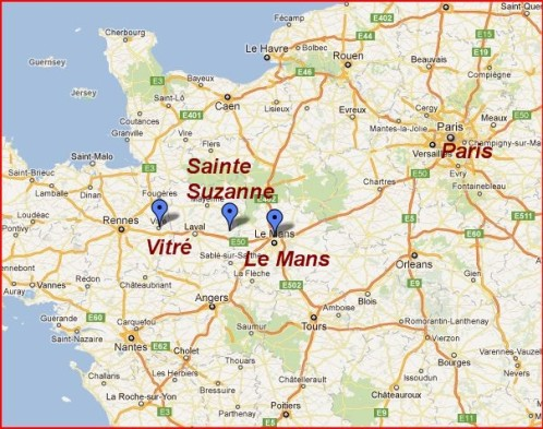 Image result for location of sainte suzanne france