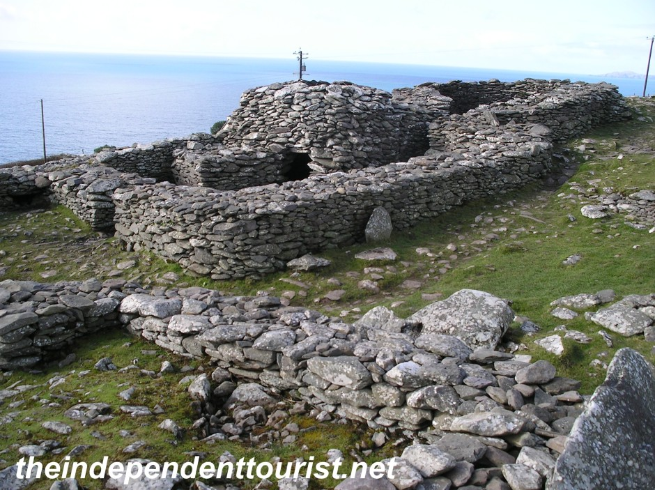 "The ""Beehive Huts"" on Dingle Peninsual - thought to be early Christian huts built for pilgrims visiting the area"
