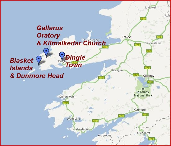 Dingle Peninsula Map | The Independent Tourist on