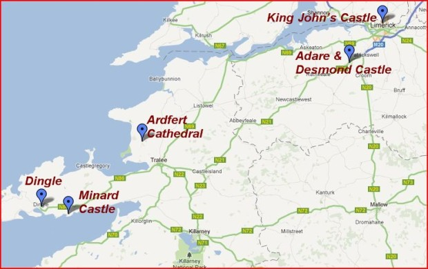 Adare Castle Ireland Map.Ireland Day 2 From Limerick To Dingle Peninsula The Independent