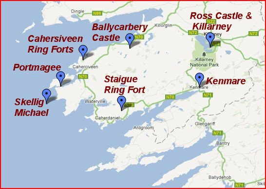 Ireland Travel – Tourist Attractions Map In Ireland