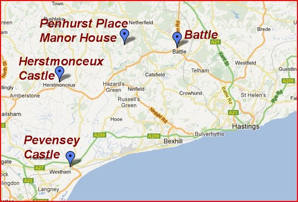 Map Of England Hastings.Hastings Uk Area Map The Independent Tourist