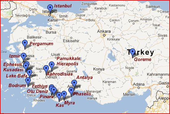 Turkey Map The Independent Tourist