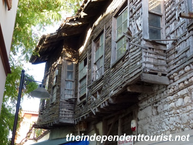 A house in Antalya's old town - in need of some siding repair!