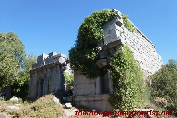 Part of the gymnasium ruins at Termessos.
