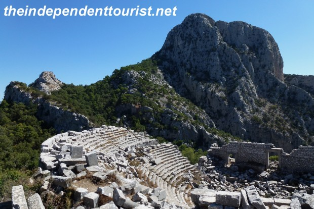 A dramatic backdrop for the theater at Termessos, which held 4,000 people.