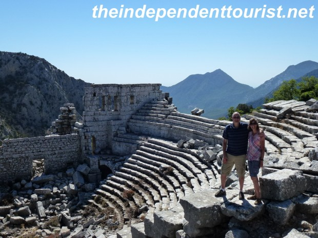 A view of the theater at Termessos.