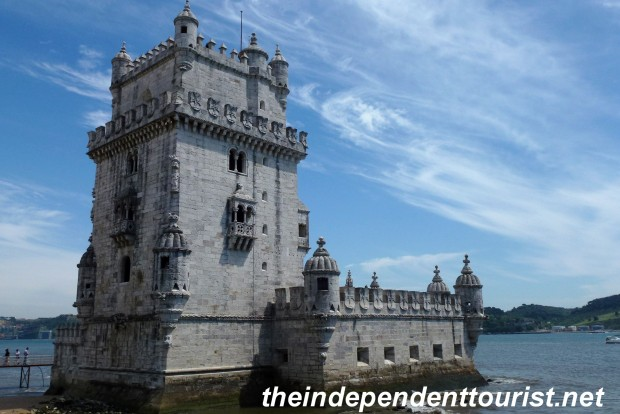 A view of the Belem Tower (built in 1515).