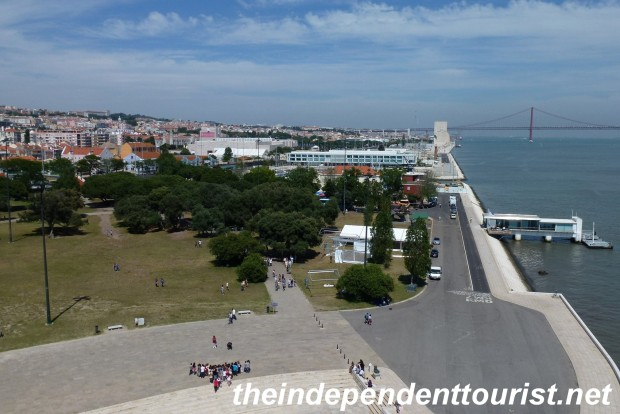 View towards Lisbon and the River Tagus from the Belem Tower.