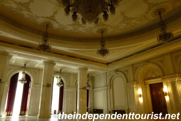 One of the grand reception rooms in the Palace.