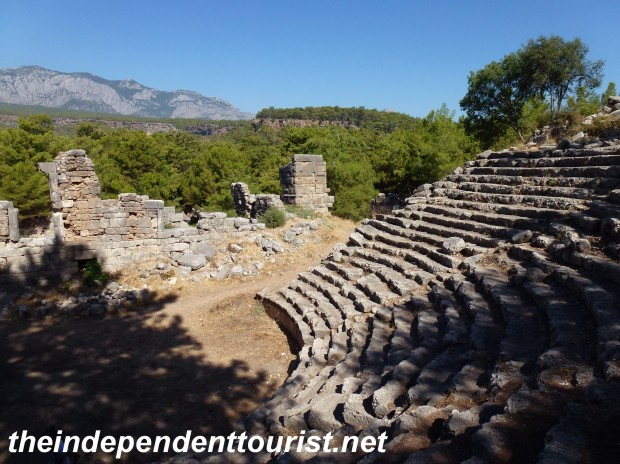 The Roman Theater at Phaselis.