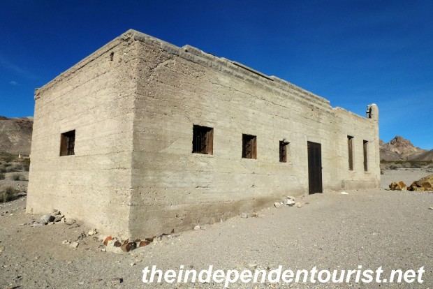 The Rhyolite town jail. Erected in 1907.