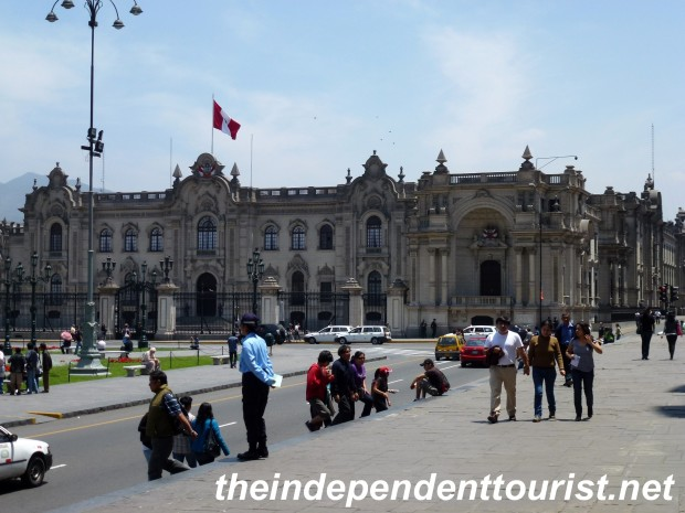The governmental palace on the historical Plaza de Armas.