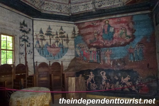 A 18th century wooden church. High decorated interior.