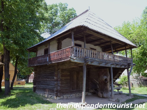 Another example of a homestead with the living accomodations on the 2nd floor.