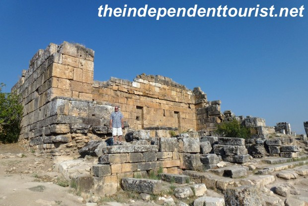 The Nymphaeum - in ancient times there would have been fountains everywhere on this structure. This is near Pluto's Gate.
