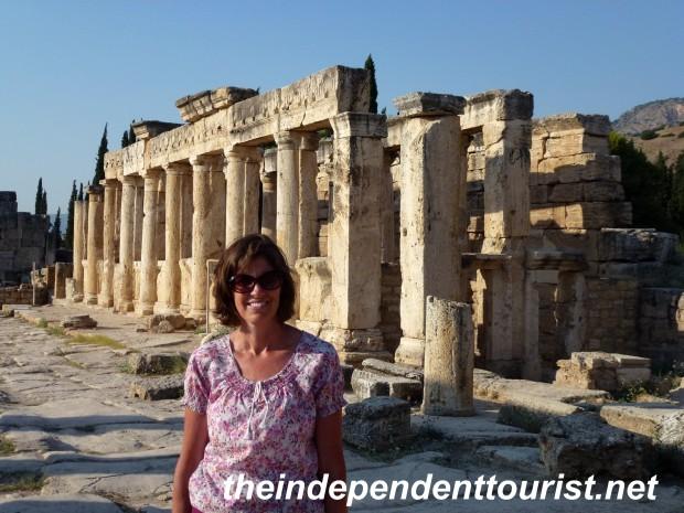 Frontinus Street - the main thoroughfare in Hierapolis.