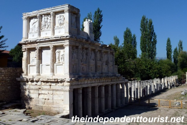 The Sebasteion, a temple to the deified Roman Emperors. Seventy of the original 190 reliefs have been recovered.