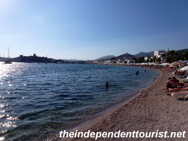 A view of the beach at Bodrum.