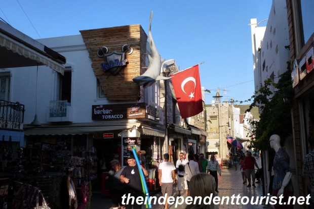 A street scene in Bodrum.