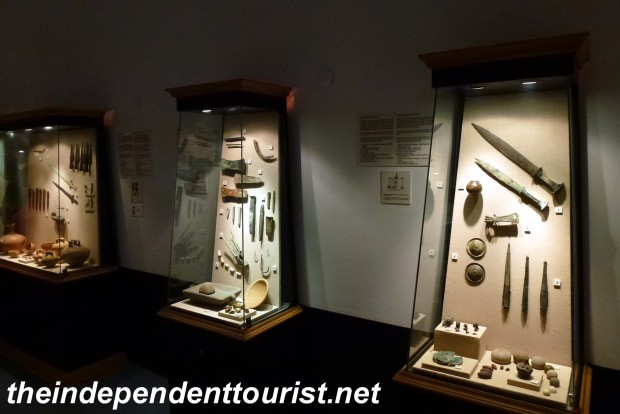 One of the many displays of artifacts from ancient shipwrecks in the Castle museum.