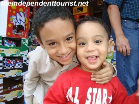 Cute Egyptian children.