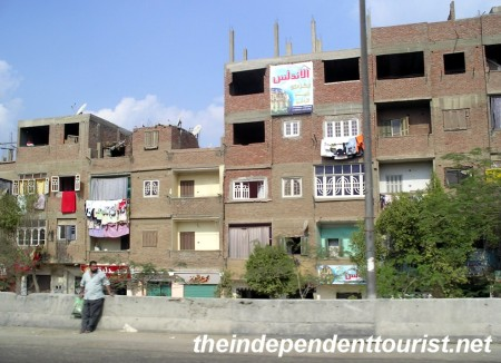 Typical housing in Cairo.