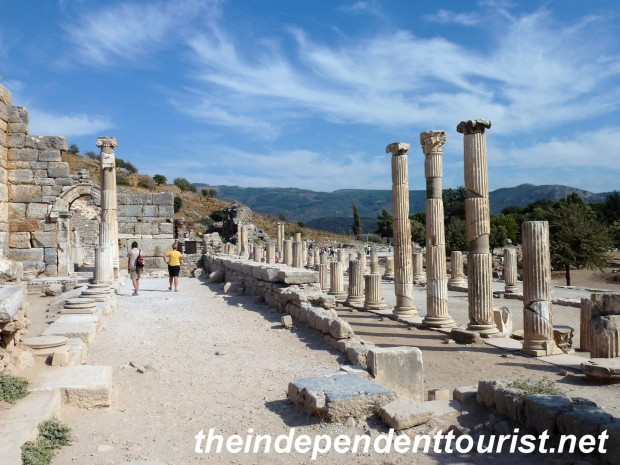"""The Government Agora, near the """"top"""" of Kurets (or Curetes) street, where many of the sights are located."""