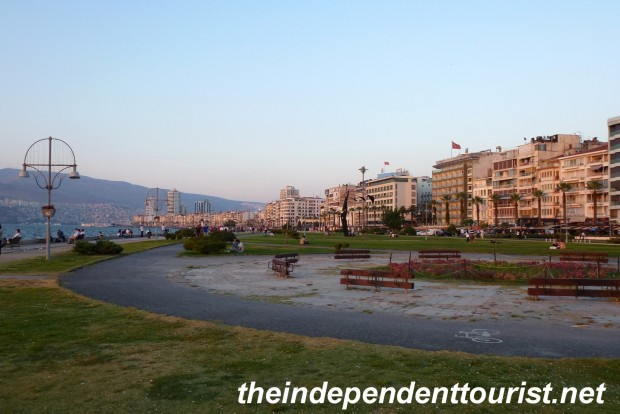 A view along the seafront in Izmir.