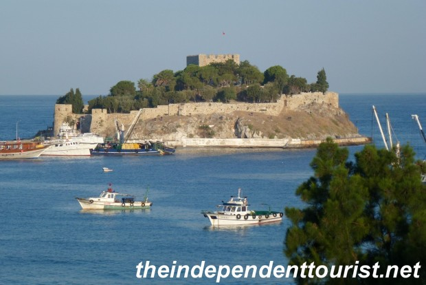 This little island fortress is near Kusadasi's harbor. Nice views from the island, and it can be reached by foot from the shore.