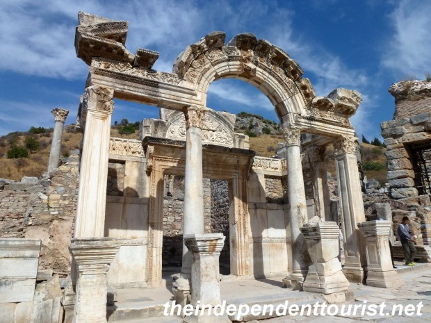 Temple of Hadrian (123 AD) in Ephesus, built to commemorate the Emperor's visit.