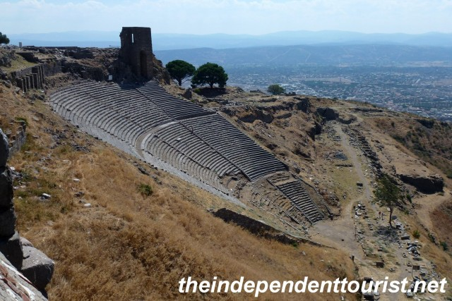 The theater at Pergamum. It could seat 10,000 people.