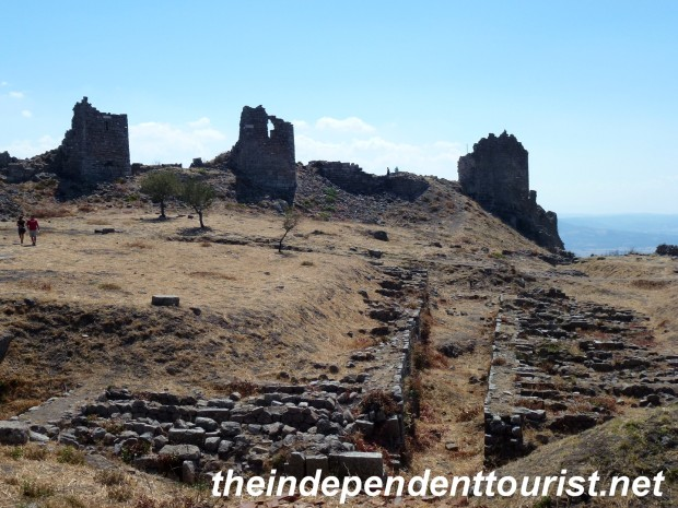 The ancient city walls of Pergamum, dating at least to 159 BC.