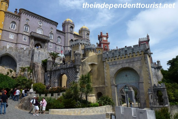 Another view of the interesting architectural styles at Pena Palace.