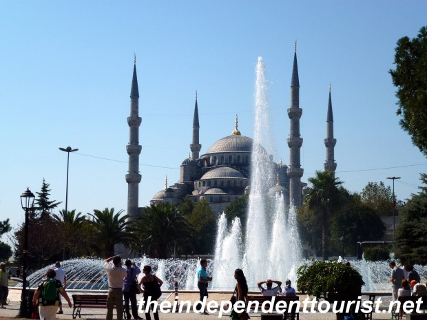 The famous Blue Mosque.