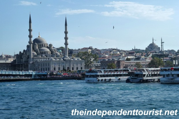 A view of Seraglio Point (part of the old city) in Istanbul from our Bosphorus cruise.