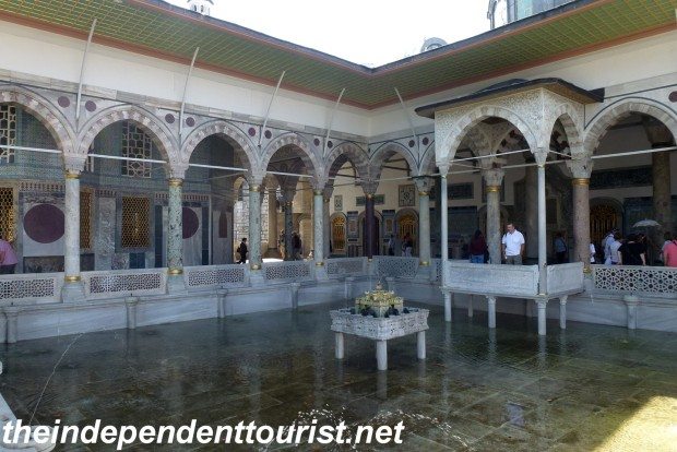 The Fourth Courtyard Pool at the Topkapi Palace.