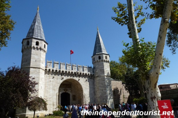 The Gate of Salutations, the main entrance into the Topkapi Palace and Second Courtyard.