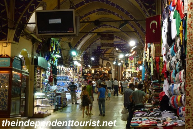 One of the many passageways in the Grand Bazaar.